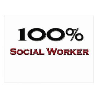 Asistente social del 100 por ciento postales
