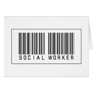 Asistente social del código de barras felicitacion