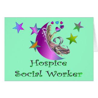Asistente social del hospicio tarjeta de felicitación