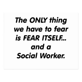 Asistente social del miedo postal