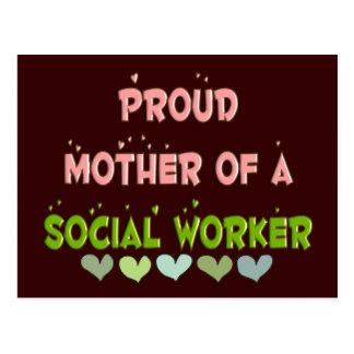 ASISTENTE SOCIAL orgulloso de la madre Postal