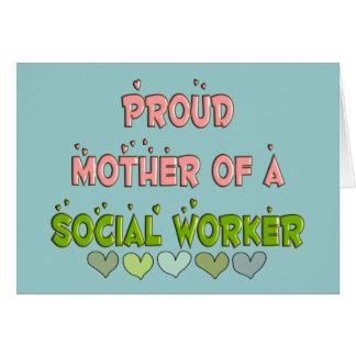 ASISTENTE SOCIAL orgulloso de la madre Tarjeta De Felicitación