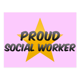 Asistente social orgulloso postal
