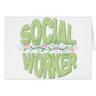 Asistente social tarjeta de felicitación