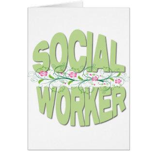 Asistente social tarjeton