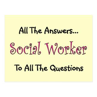 """Asistente social """"todas las respuestas """" postal"""