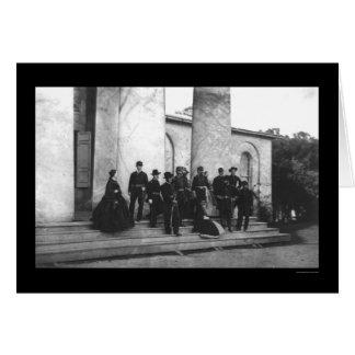 Asistentes del entierro de Roberto E. Lee 1870 Tarjeta De Felicitación