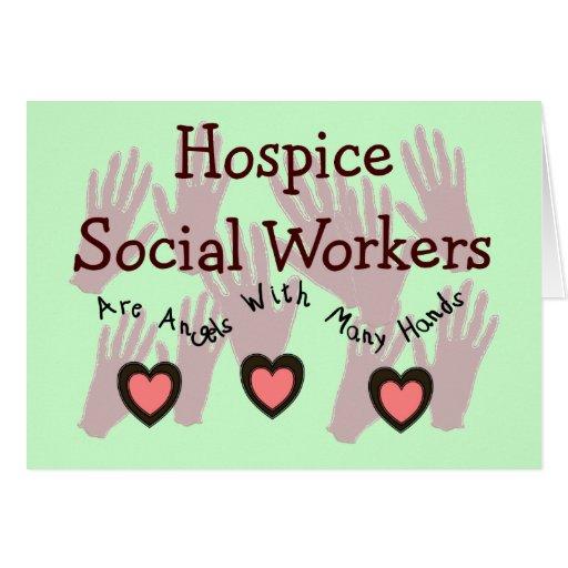 """Asistentes sociales """"ángeles del hospicio con much tarjetas"""