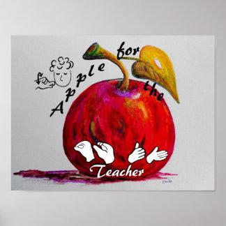 ASL Apple para el profesor Póster