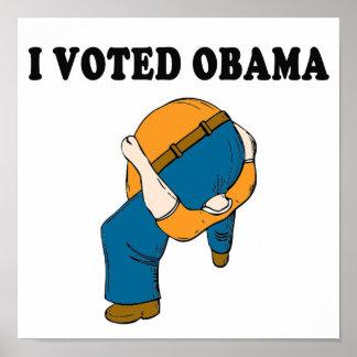 Asno ascendente principal votado de Obama Póster
