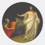 Aspecto del Jesucristo a Maria Magdalina Etiqueta Redonda