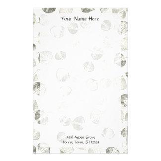 Aspen se va blanco y negro papeleria de diseño