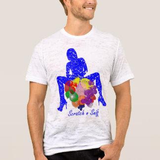 aspiración del rasguño n camiseta