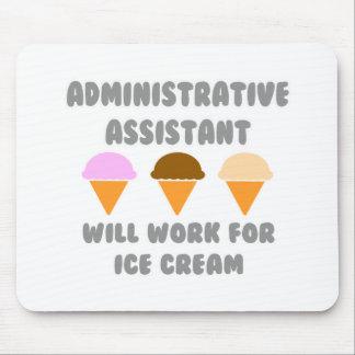 Asst administrativo… trabajará para el helado tapete de ratones