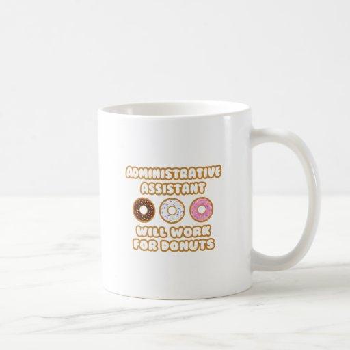 Asst administrativo. Trabajará para los anillos de Taza De Café