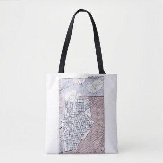 Astoria, tote del mapa del distrito de la bolso de tela