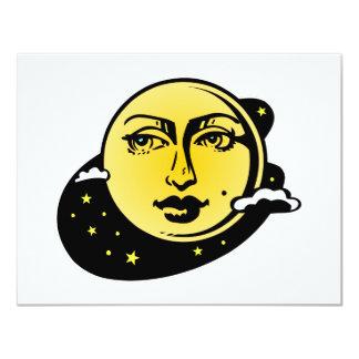 Astrología #002 de la luna y de las estrellas invitación 10,8 x 13,9 cm