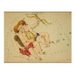 Astrología del vintage/constelación de los géminis postal