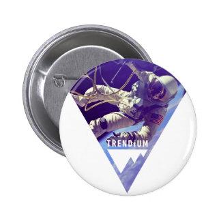 Astronauta auténtico de Trendium en triángulo inve Pins
