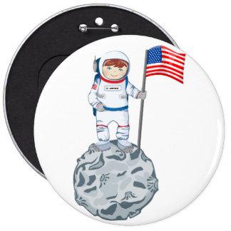 Astronauta con la etiqueta conocida pin