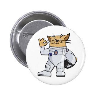 Astronauta del gato pin