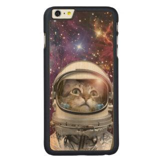 Astronauta del gato - gato loco - gato funda de arce para iPhone 6 plus de carved