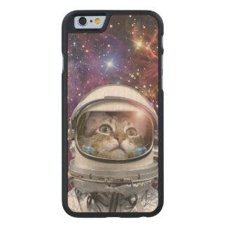 Astronauta del gato - gato loco - gato funda fina de arce para iPhone 6 de carved