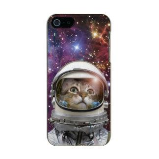 Astronauta del gato - gato loco - gato funda para iPhone 5 incipio feather shine