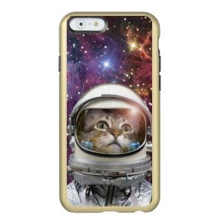 Astronauta del gato - gato loco - gato funda para iPhone 6 plus incipio feather shine