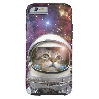 Astronauta del gato - gato loco - gato funda resistente iPhone 6