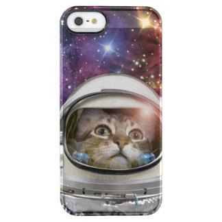 Astronauta del gato - gato loco - gato funda transparente para iPhone SE/5/5s