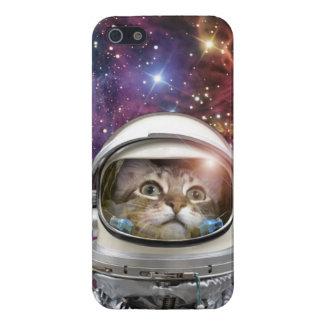 Astronauta del gato - gato loco - gato iPhone 5 funda