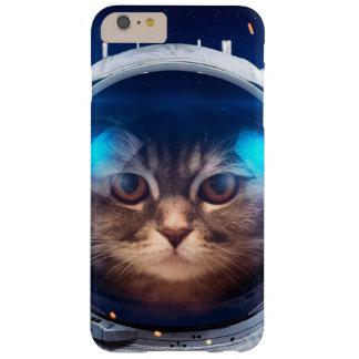 Astronauta del gato - gatos en espacio - espacio funda barely there iPhone 6 plus