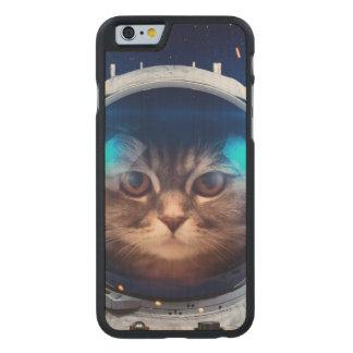Astronauta del gato - gatos en espacio - espacio funda fina de arce para iPhone 6 de carved
