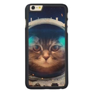 Astronauta del gato - gatos en espacio - espacio funda fina de arce para iPhone 6 plus de carved