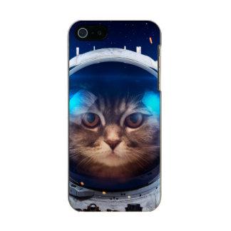 Astronauta del gato - gatos en espacio - espacio funda para iPhone 5 incipio feather shine