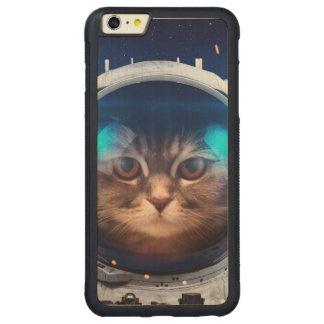 Astronauta del gato - gatos en espacio - espacio funda protectora de arce para iPhone 6 plus de car