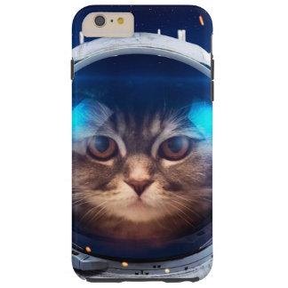 Astronauta del gato - gatos en espacio - espacio funda resistente iPhone 6 plus