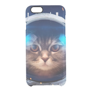 Astronauta del gato - gatos en espacio - espacio funda transparente para iPhone 6/6s