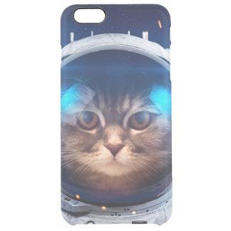 Astronauta del gato - gatos en espacio - espacio funda transparente para iPhone 6 plus