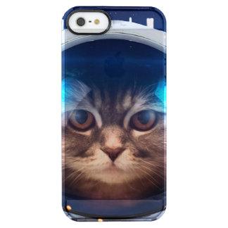 Astronauta del gato - gatos en espacio - espacio funda transparente para iPhone SE/5/5s
