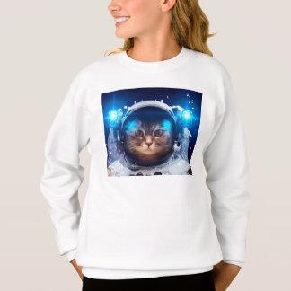 Astronauta del gato - gatos en espacio - espacio sudadera