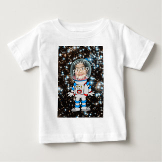 Astronauta en el entrenamiento - plantilla del camiseta de bebé