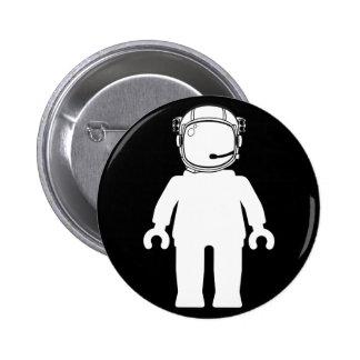 Astronauta Minifig del estilo de Banksy Chapa Redonda 5 Cm