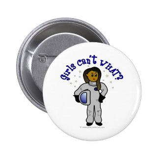 Astronauta oscuro del chica pins