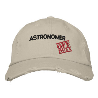 Astrónomo fuera de servicio gorra bordada