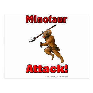 Ataque de Minotaur (con lema) Postal