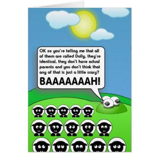 Ataque del carro las copias tarjeta de felicitación