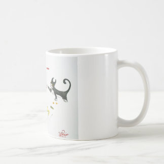 Ataque del gato taza de café