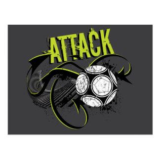 Ataque - postales deportivas del fútbol del argot